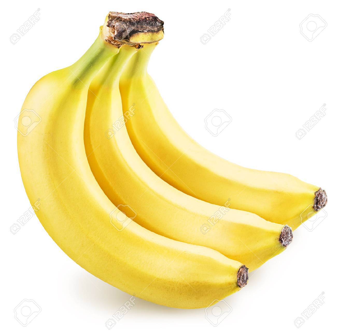 Bananas isolated on a white background. Picture is of high quality. Clipping path. Standard-Bild - 46556231