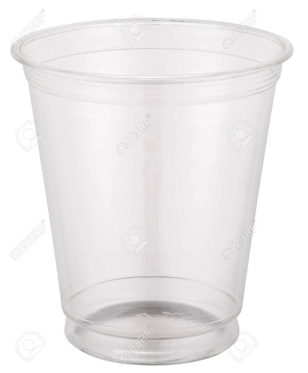 Empty plastic cup. Standard-Bild - 47443046