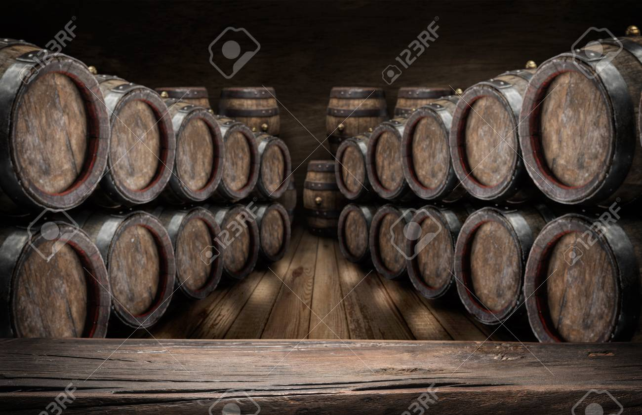 oak wine barrels. Interesting Wine Old Wooden Table Top And Oak Wine Barrels At The Background Stock Photo   96462268 With Oak Wine Barrels