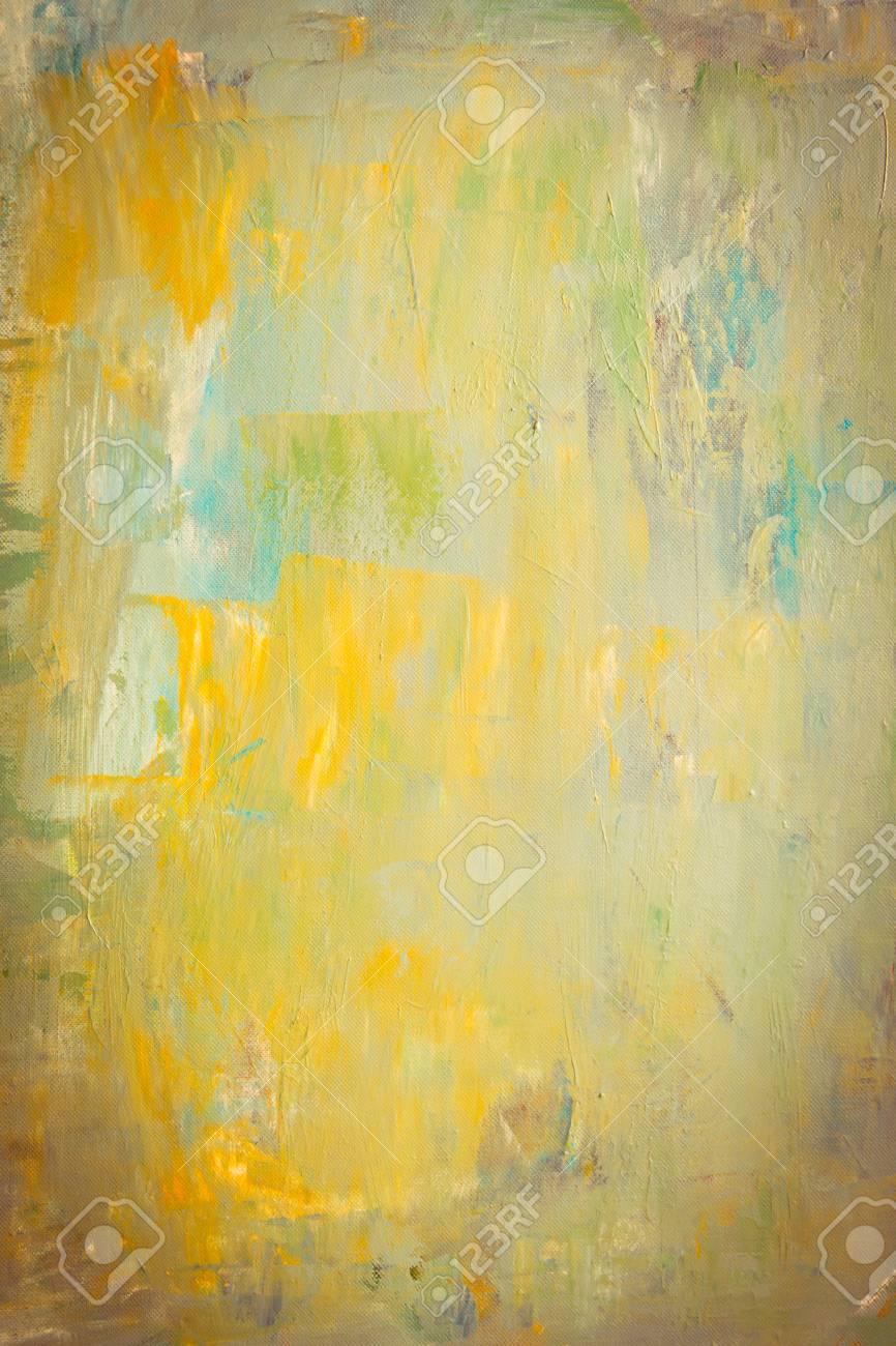 Peinture Acrylique Abstraite Sur Toile. Peint