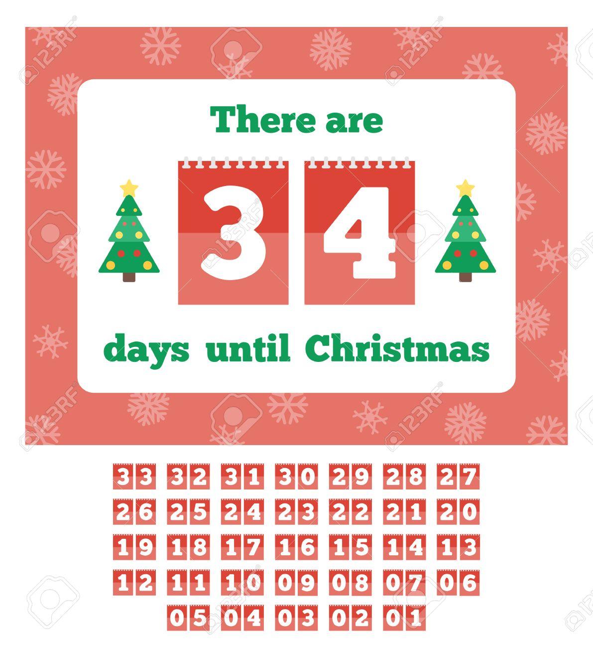 calendario de cuenta regresiva esperando la navidad ilustracin del vector en estilo plano foto