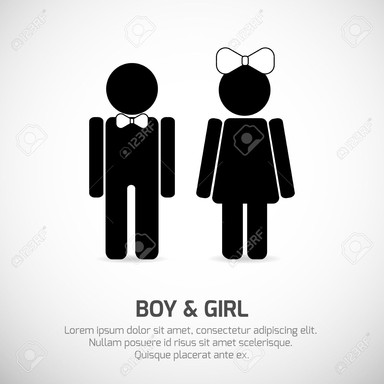 Boy and Girl symbols  Vector signs for stecifying gender  Can be used for  restroom. Boy And Girl Symbols  Vector Signs For Stecifying Gender  Can