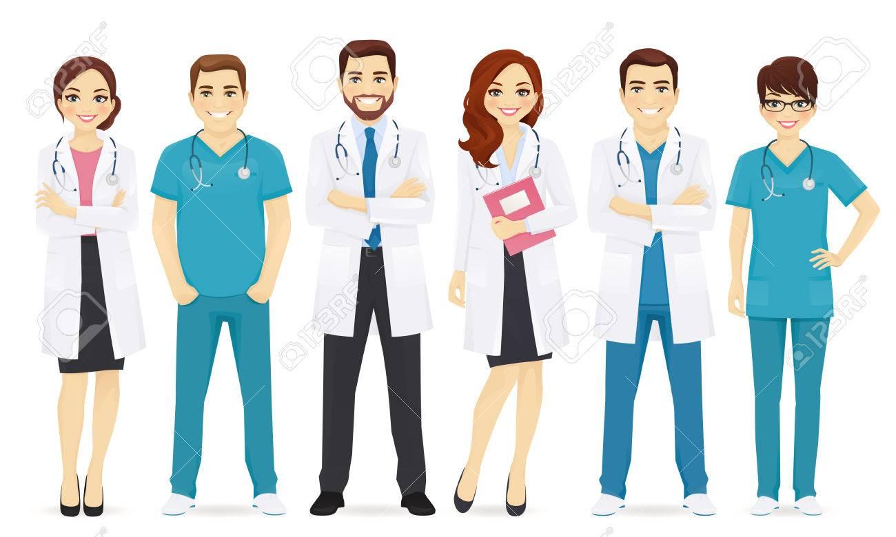 Team of doctors illustration. - 85642110