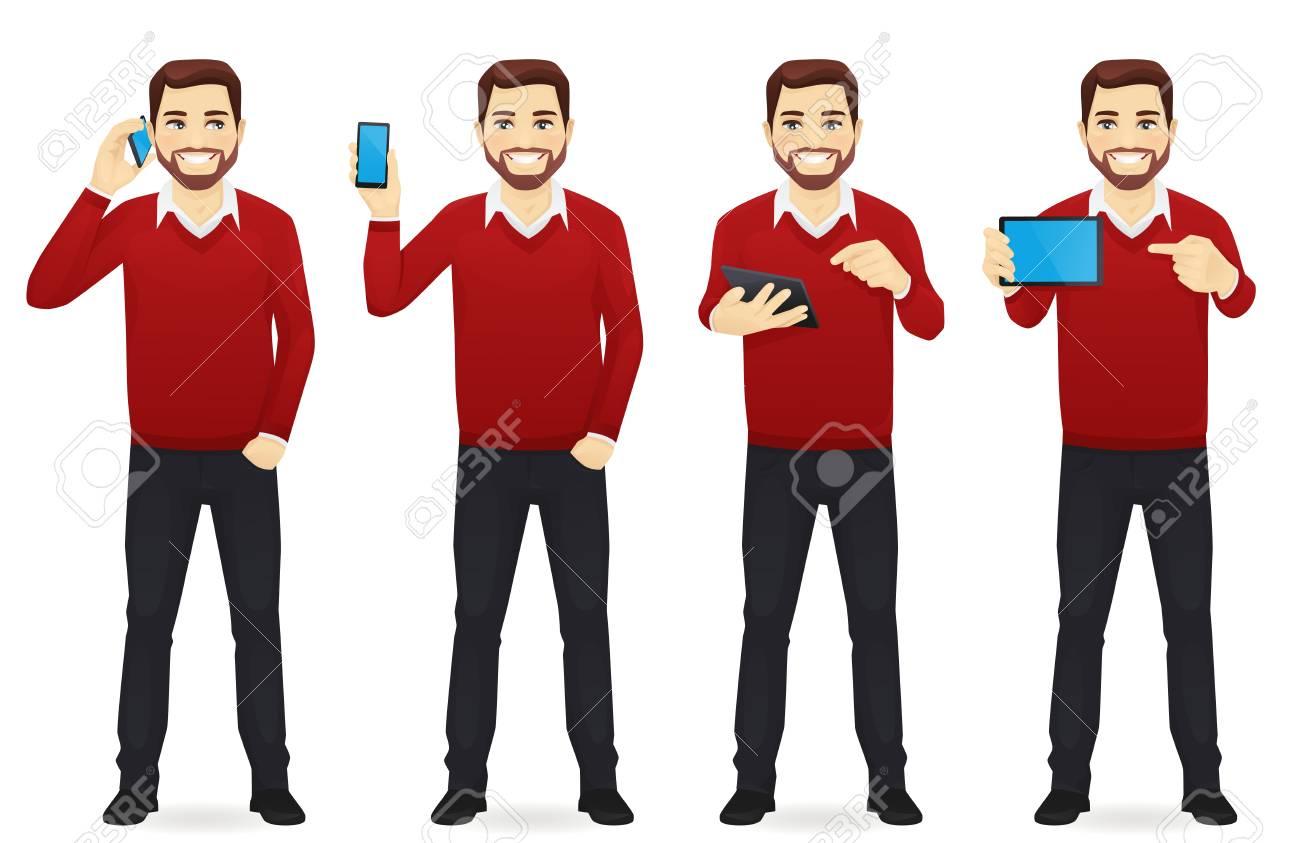 Businessman with gadgets set - 95297745