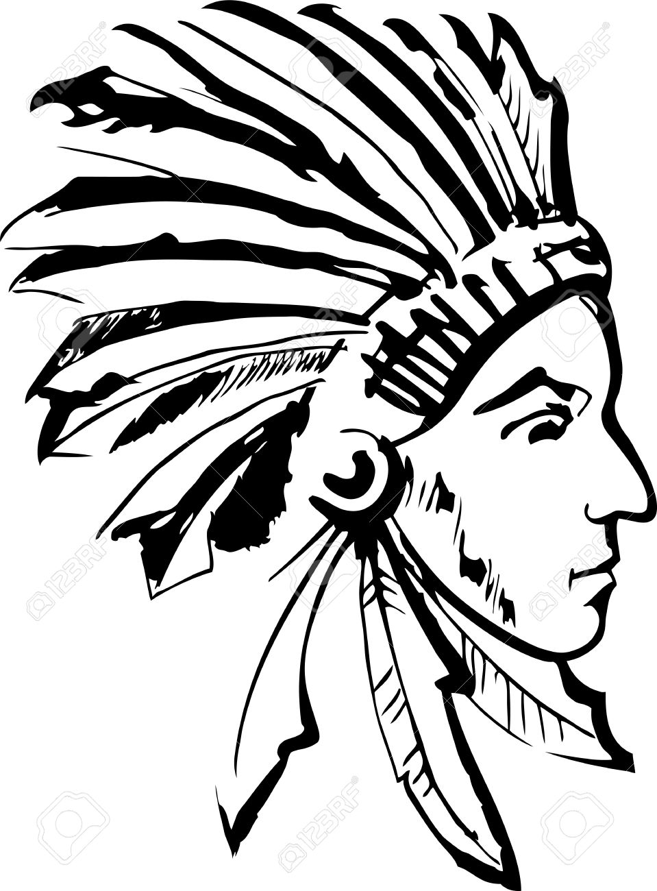 native american indian chief royalty free cliparts vectors and