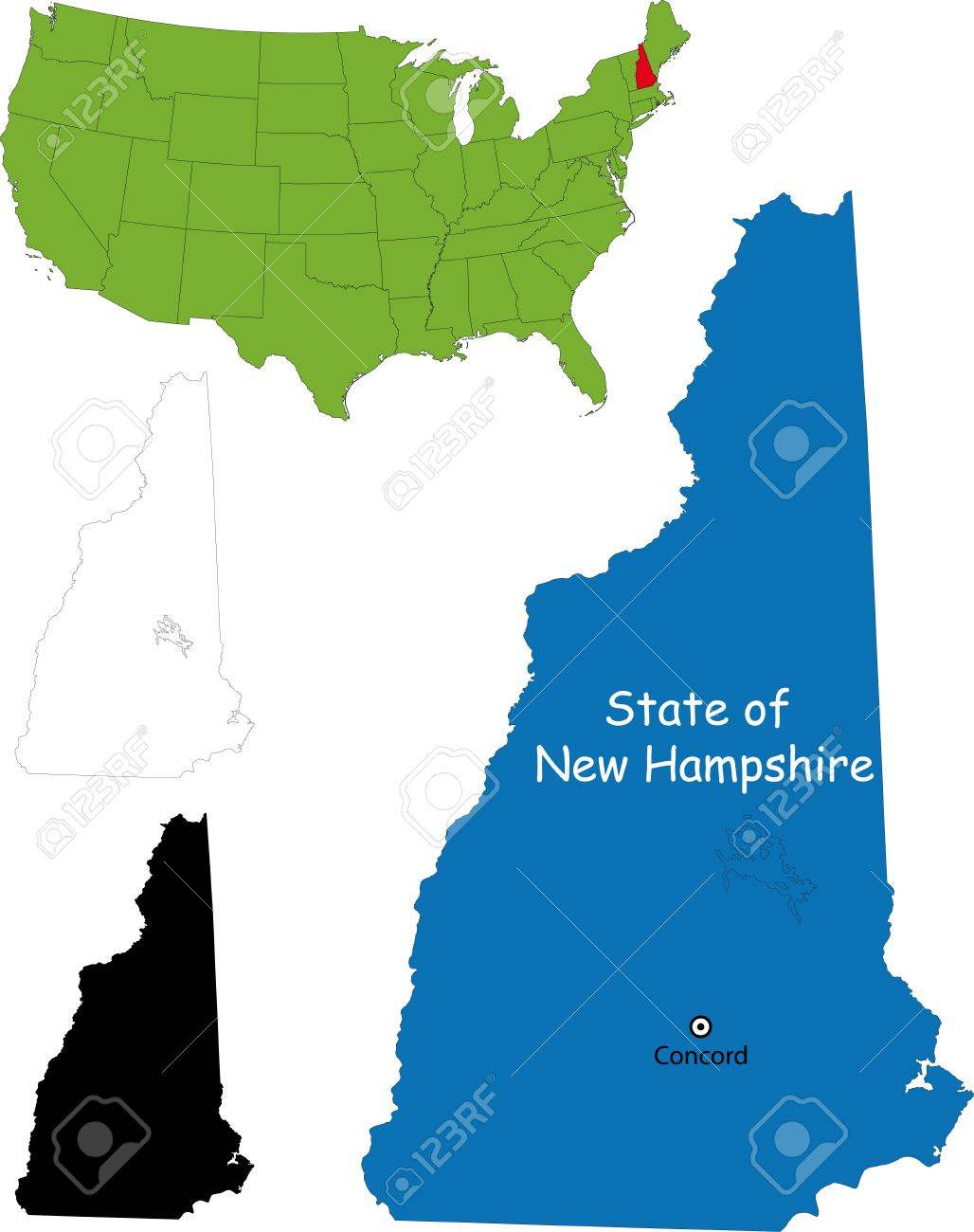 State of New Hampshire, USA Stock Vector - 21758072