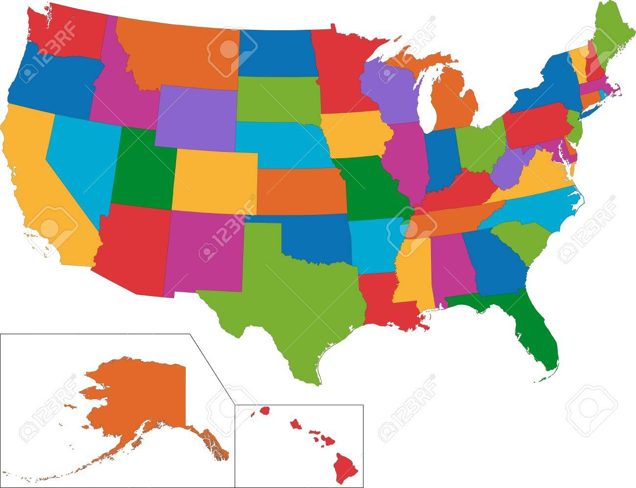 Outline Map USA With State Borders EnchantedLearningcom Find Your - Us map with state lines