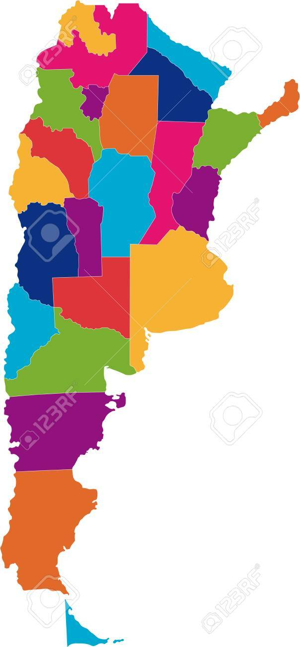 Map Of Administrative Divisions Of Argentina Royalty Free Cliparts