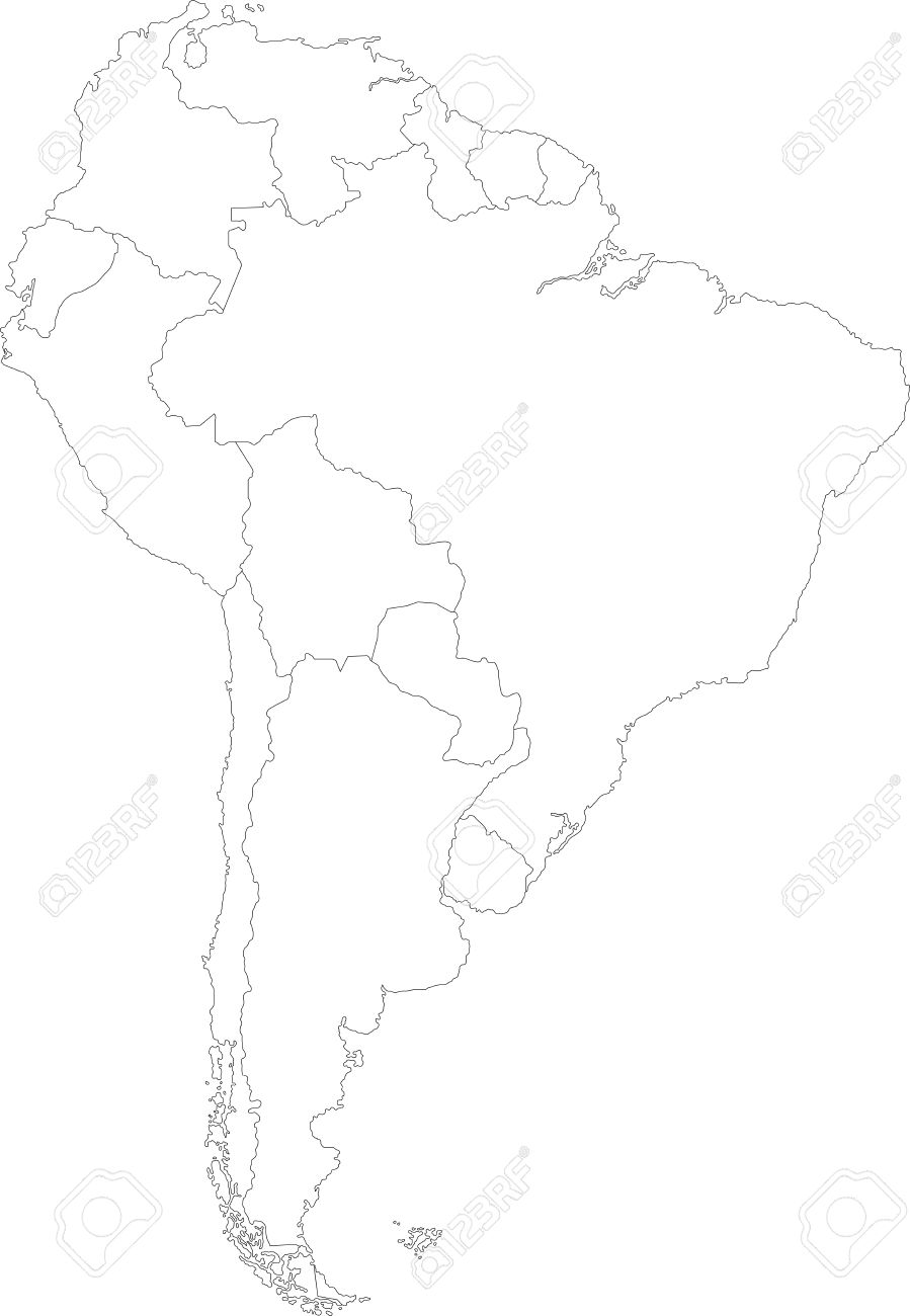 South america map with country borders royalty free cliparts south america map with country borders stock vector 21801450 gumiabroncs Image collections
