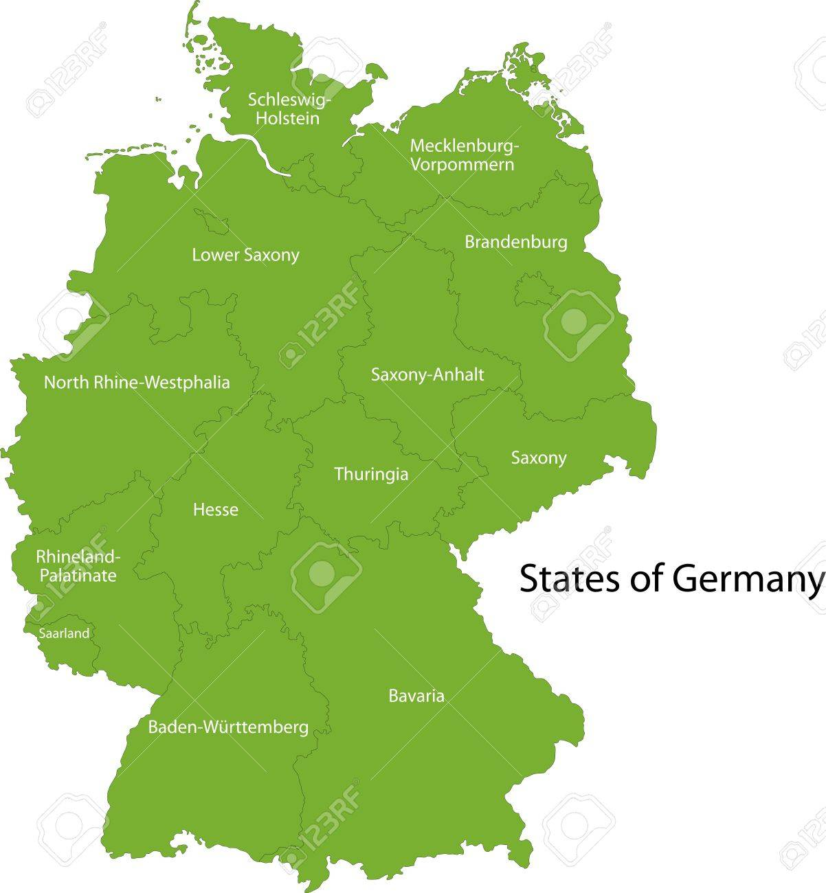 germany map with regions stock vector 21813607