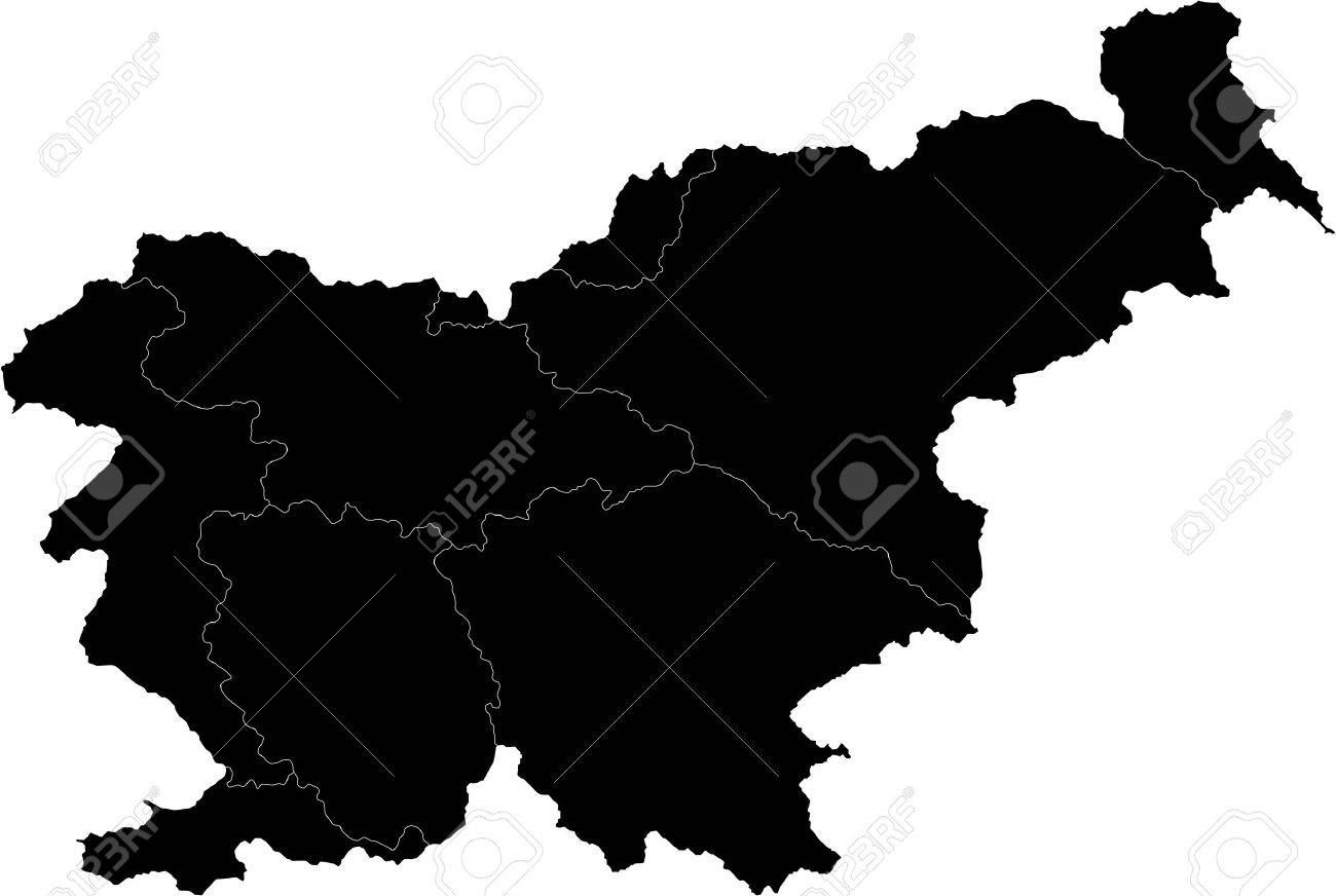 Map Of Administrative Divisions Of Slovenia Royalty Free Cliparts