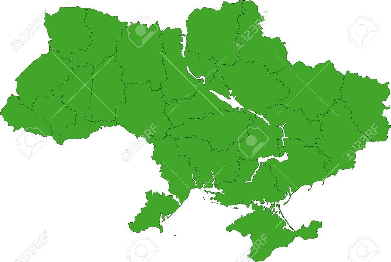 Administrative Divisions Of Ukraine Royalty Free Cliparts Vectors