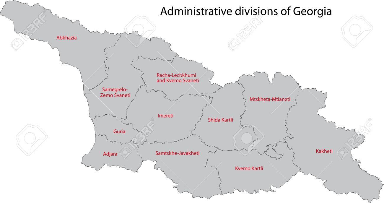 ジョージア州の地方行政区画の地...