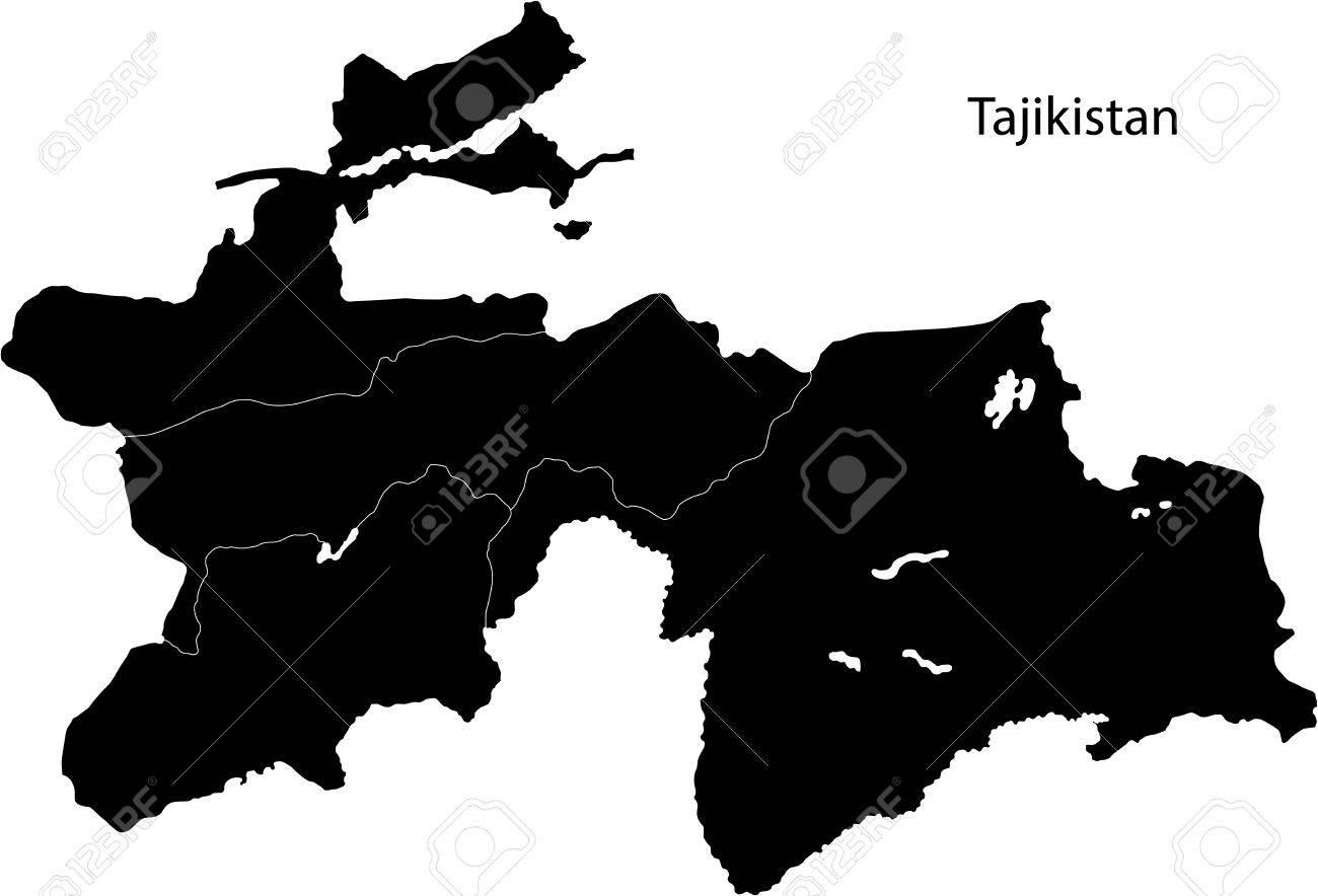 Tajikistan Map Royalty Free Cliparts Vectors And Stock - Tajikistan map vector