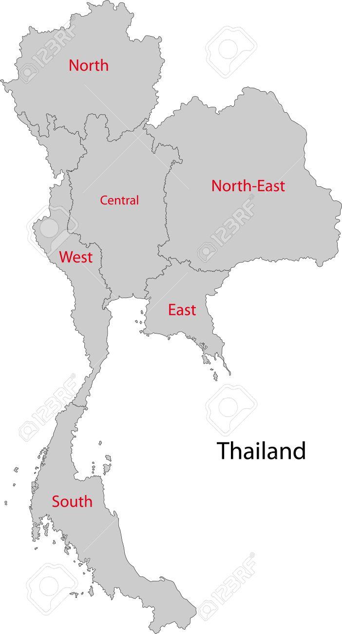 タイの地方行政区画の地図 ロイ...
