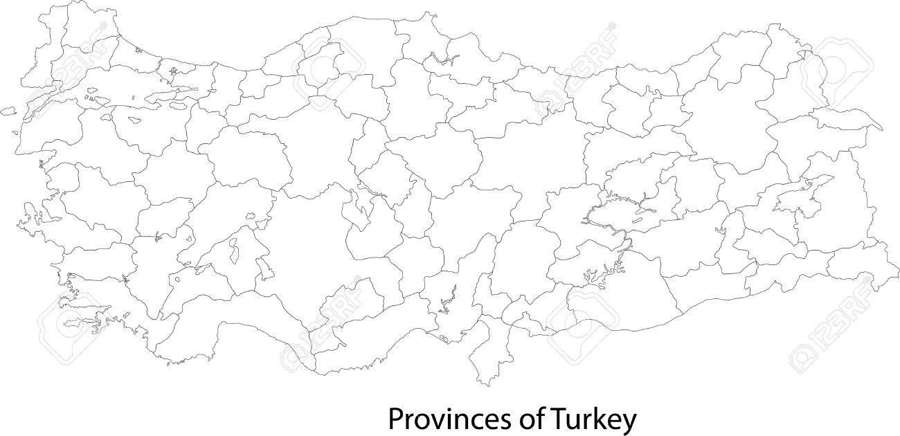 トルコの地方行政区画の地図 ロ...