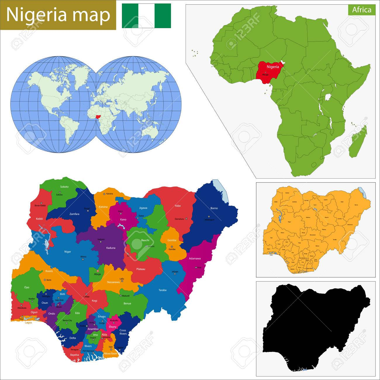 Administrative Division Of The Federal Republic Of Nigeria Royalty
