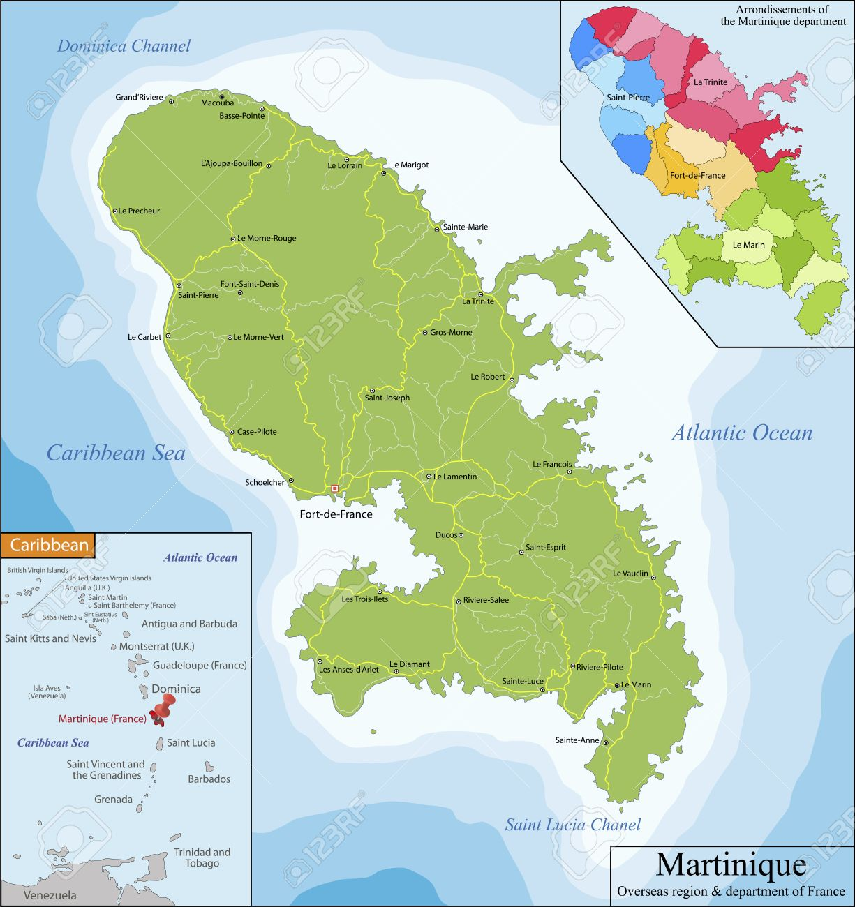 Martinique Is An Insular Region Of France Located In The Lesser