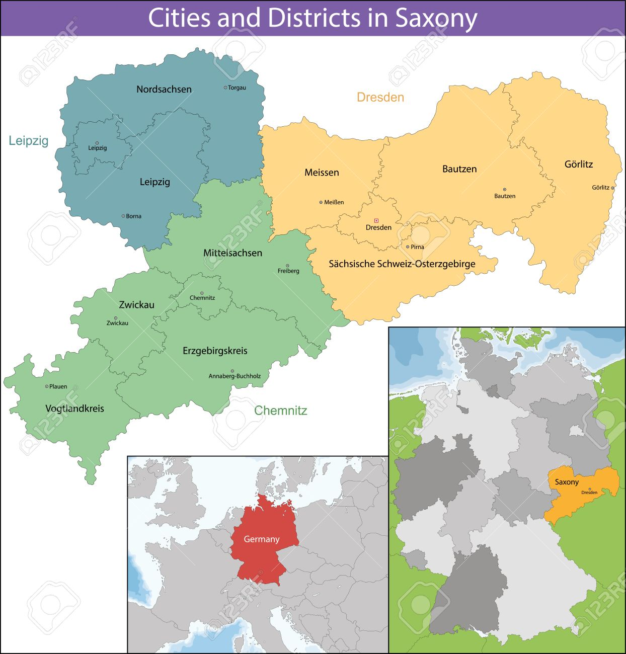 The Free State Of Saxony Is A Landlocked Federal State Of Germany