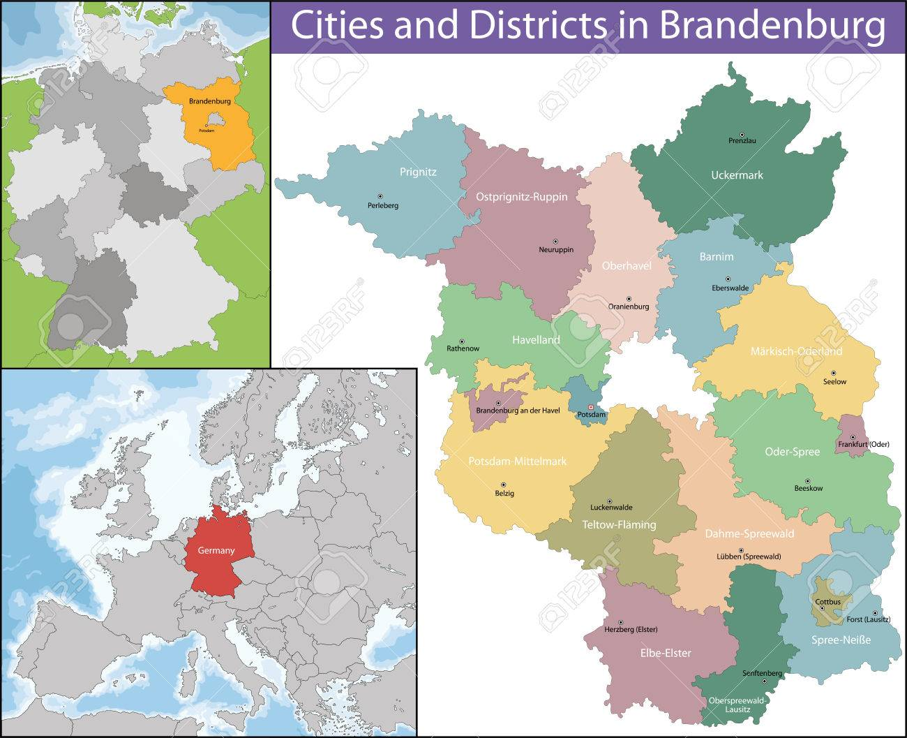 Brandenburg Is One Of The Sixteen Federated States Of Germany