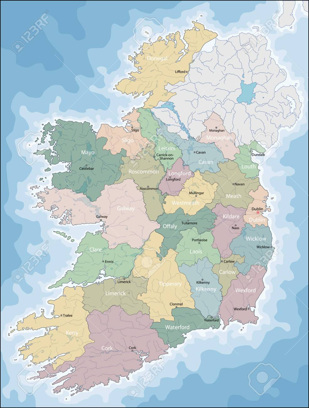 Dundalk Map Of Ireland.Map Of Ireland Royalty Free Cliparts Vectors And Stock