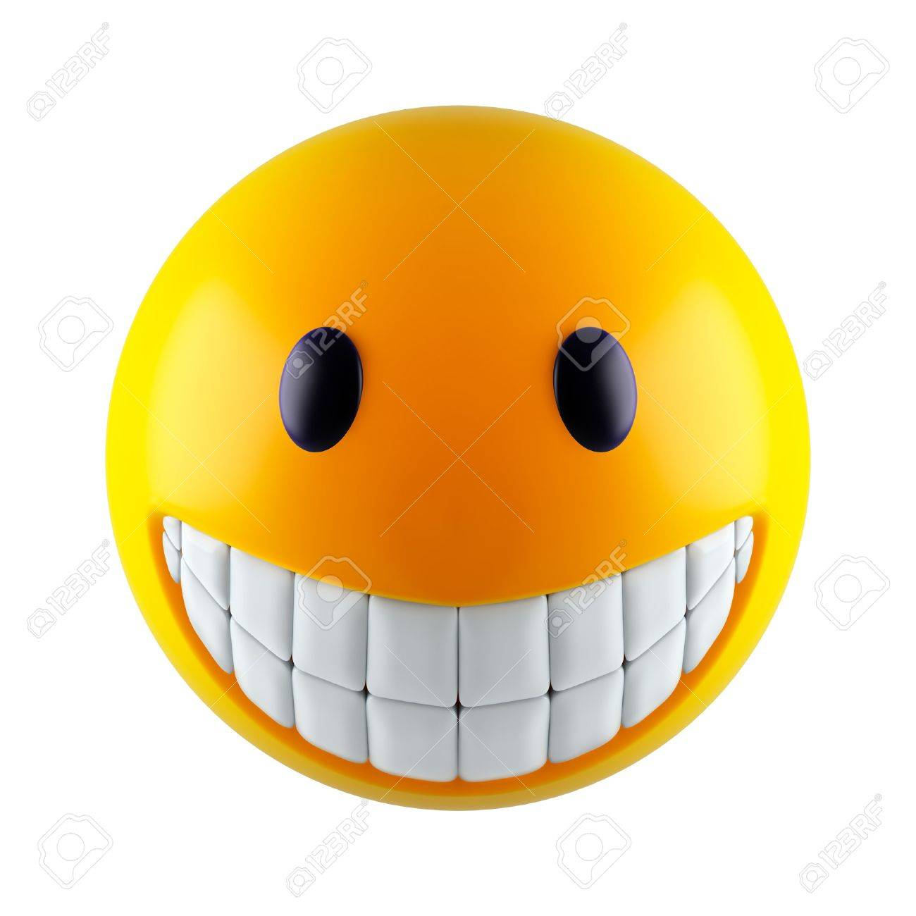 Yellow smiley face (3d render) Stock Photo - 5849063