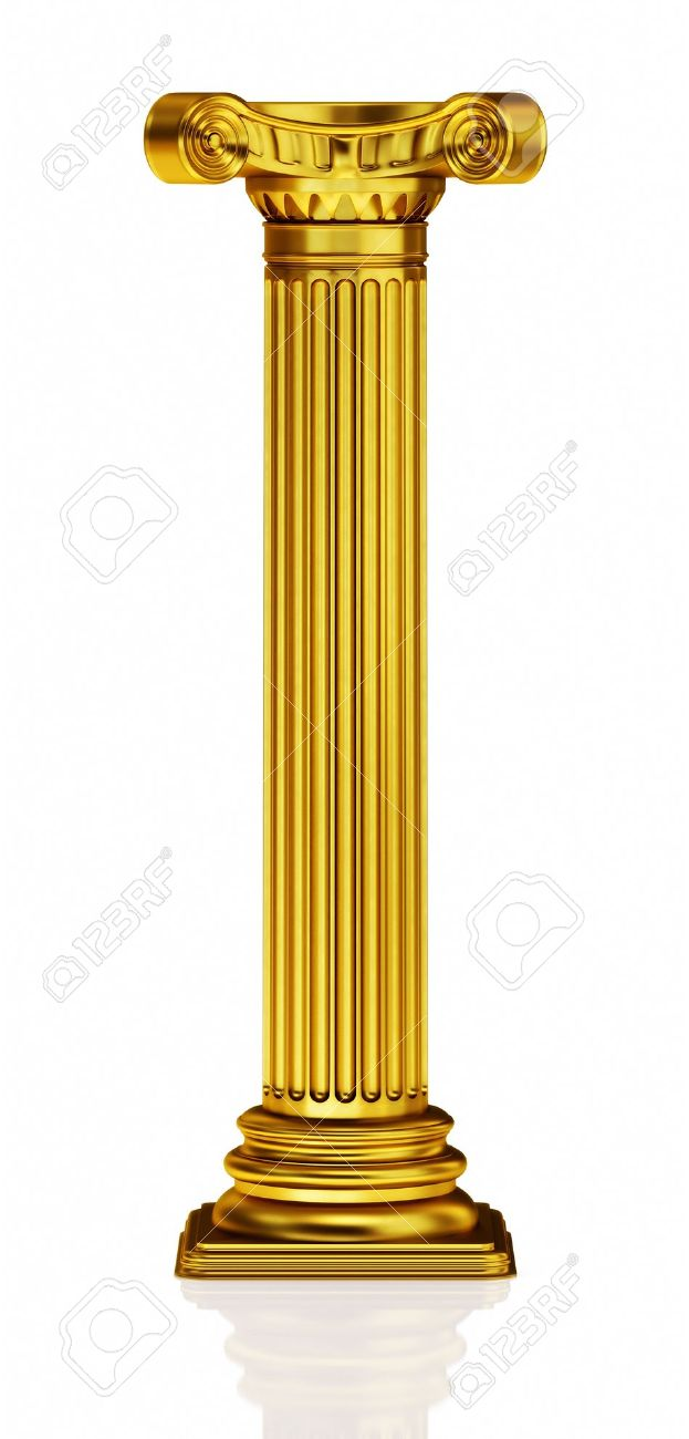Golden 3d column stock photo 8766400