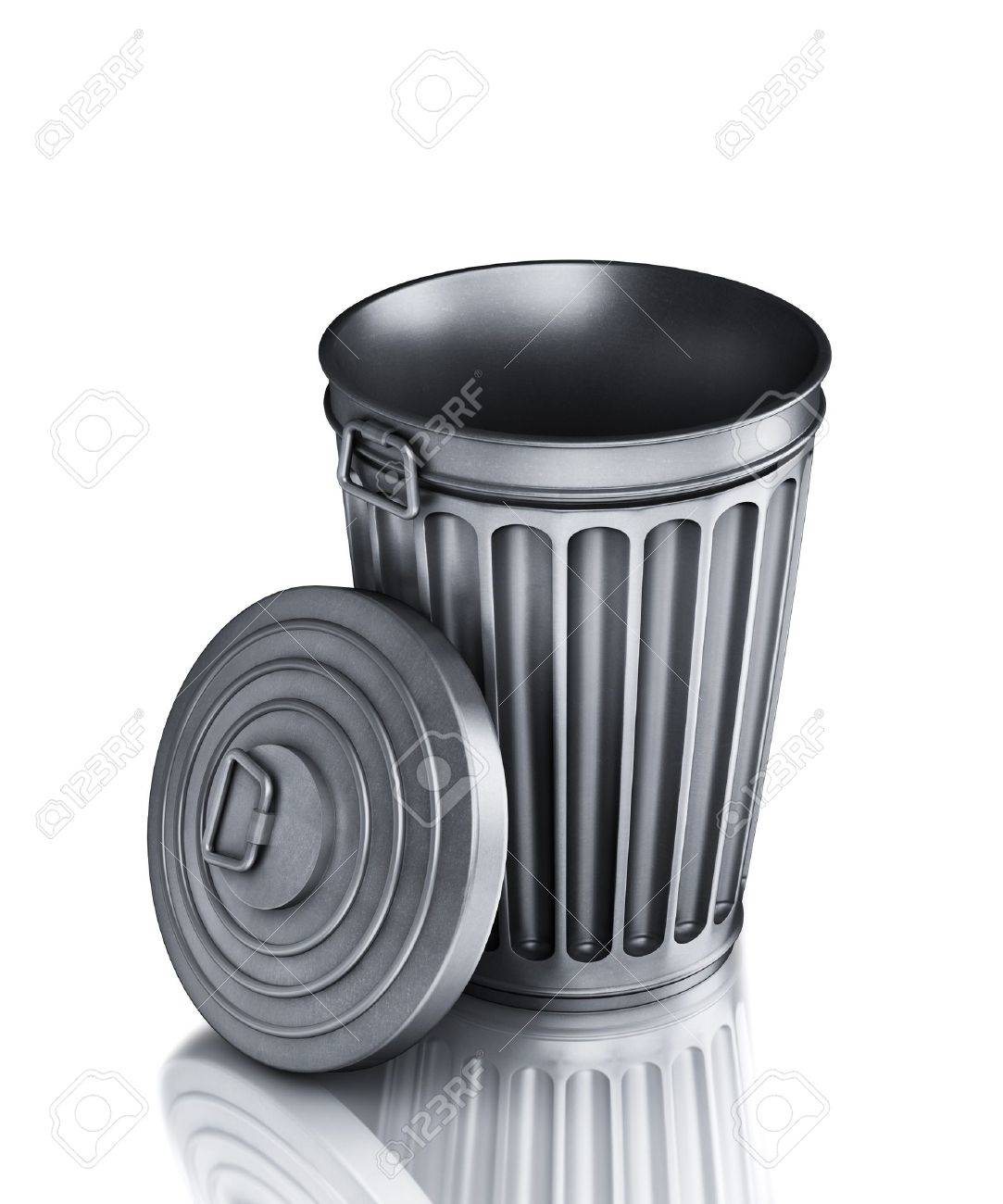 An empty trash can (3d render) Stock Photo - 8766384