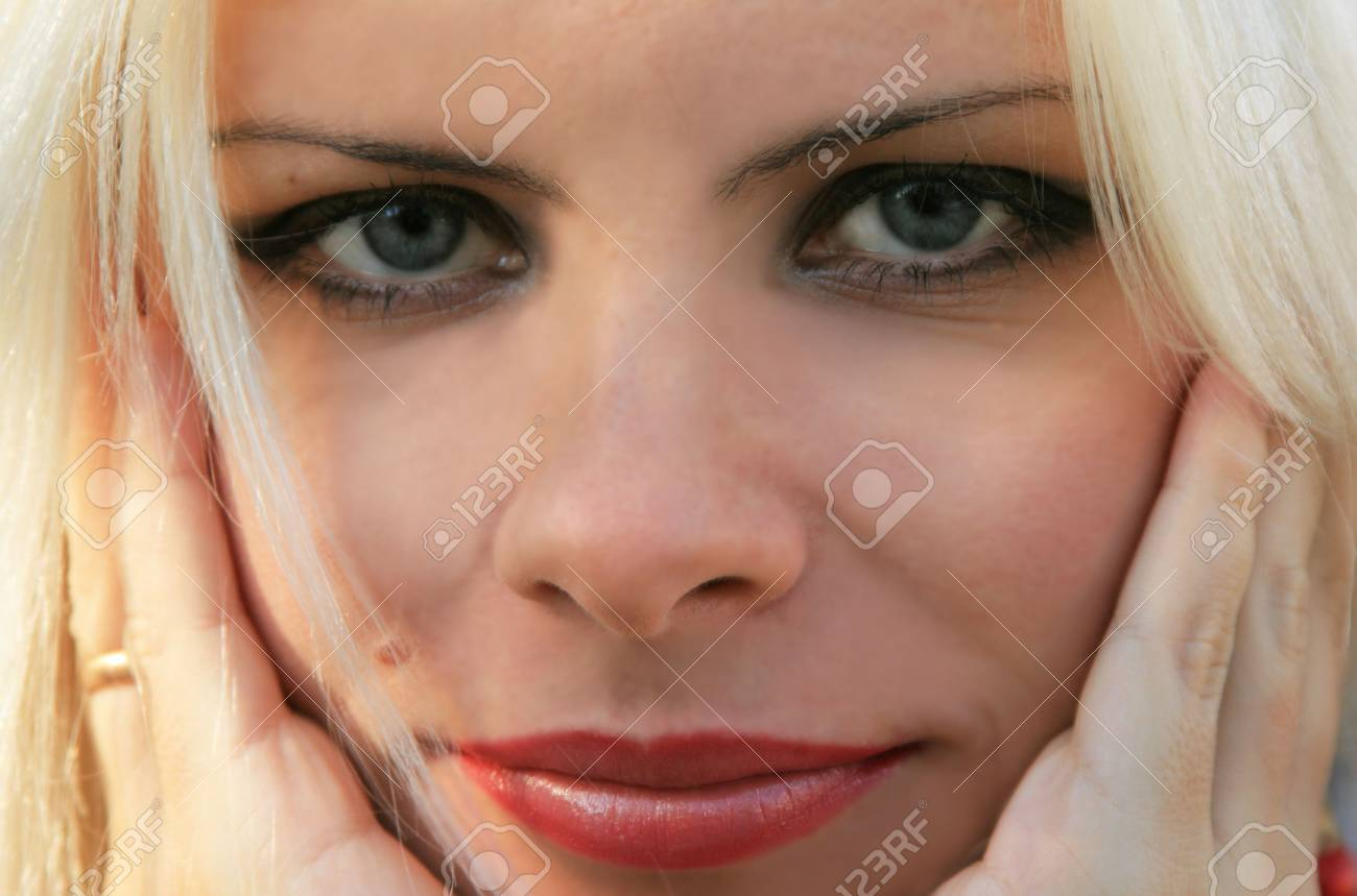Portrait of the beautiful blonde close up Stock Photo - 2127300
