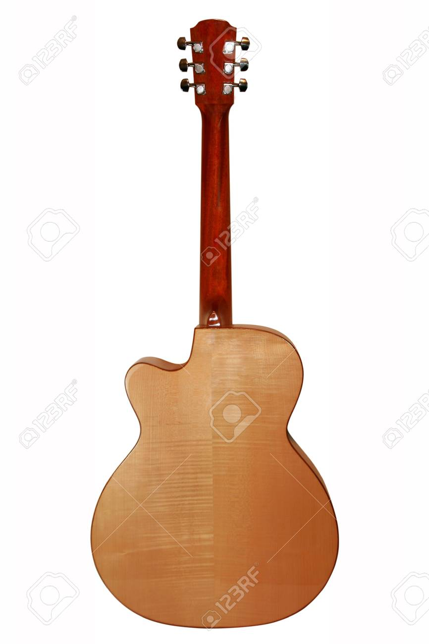 Very Beautiful Acoustic Guitar A Fragment Stock Photo Picture And