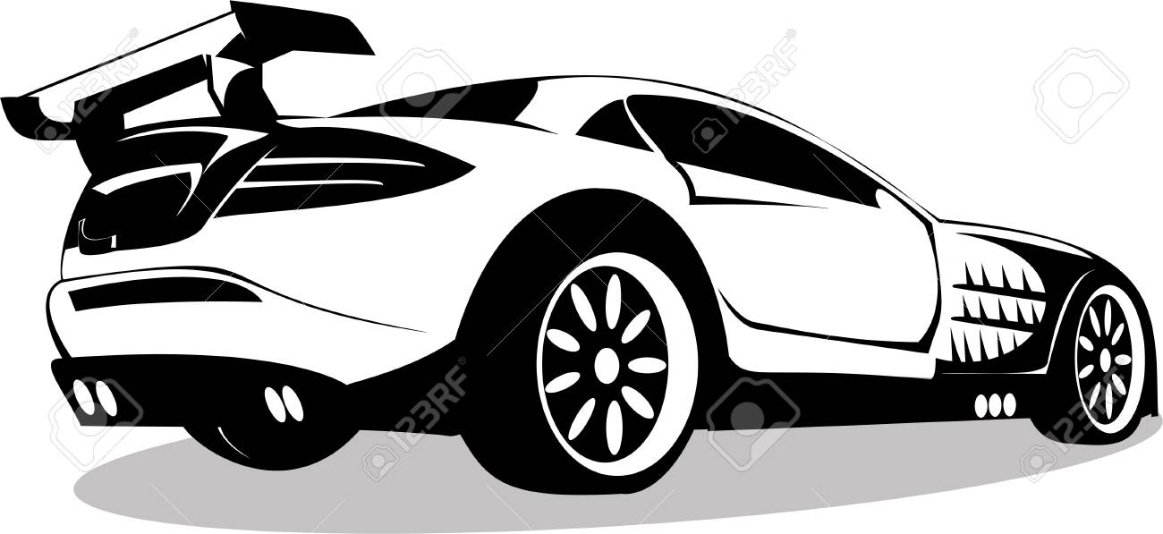 Vector series. prestigious sports machine is isolated on white background Stock Photo - 3947218