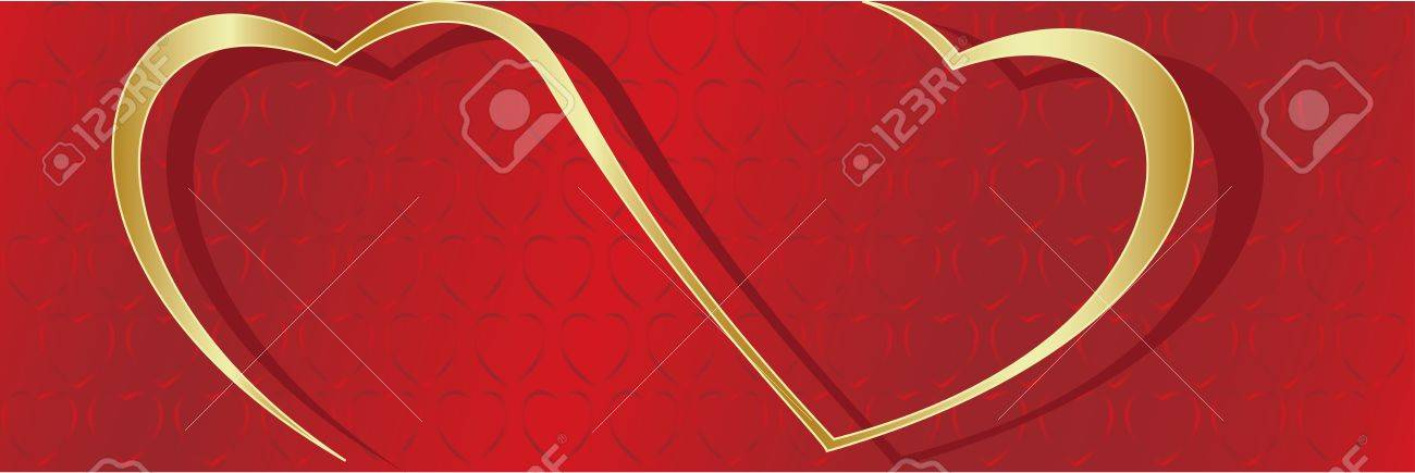 Vector. Heart ornament background. Valentine's day Stock Photo - 4127182