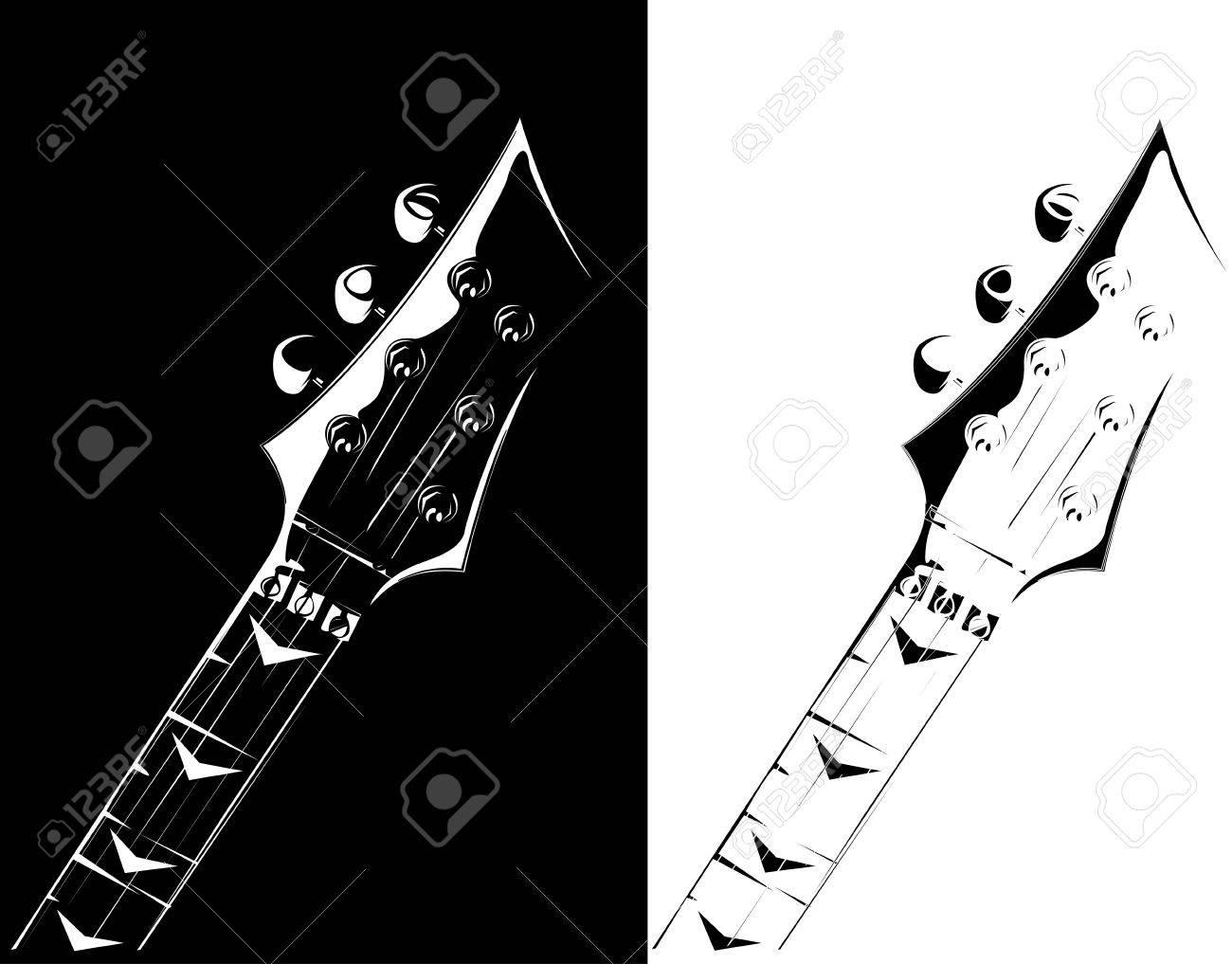 series. Electric guitar black-white version Stock Photo - 6586311