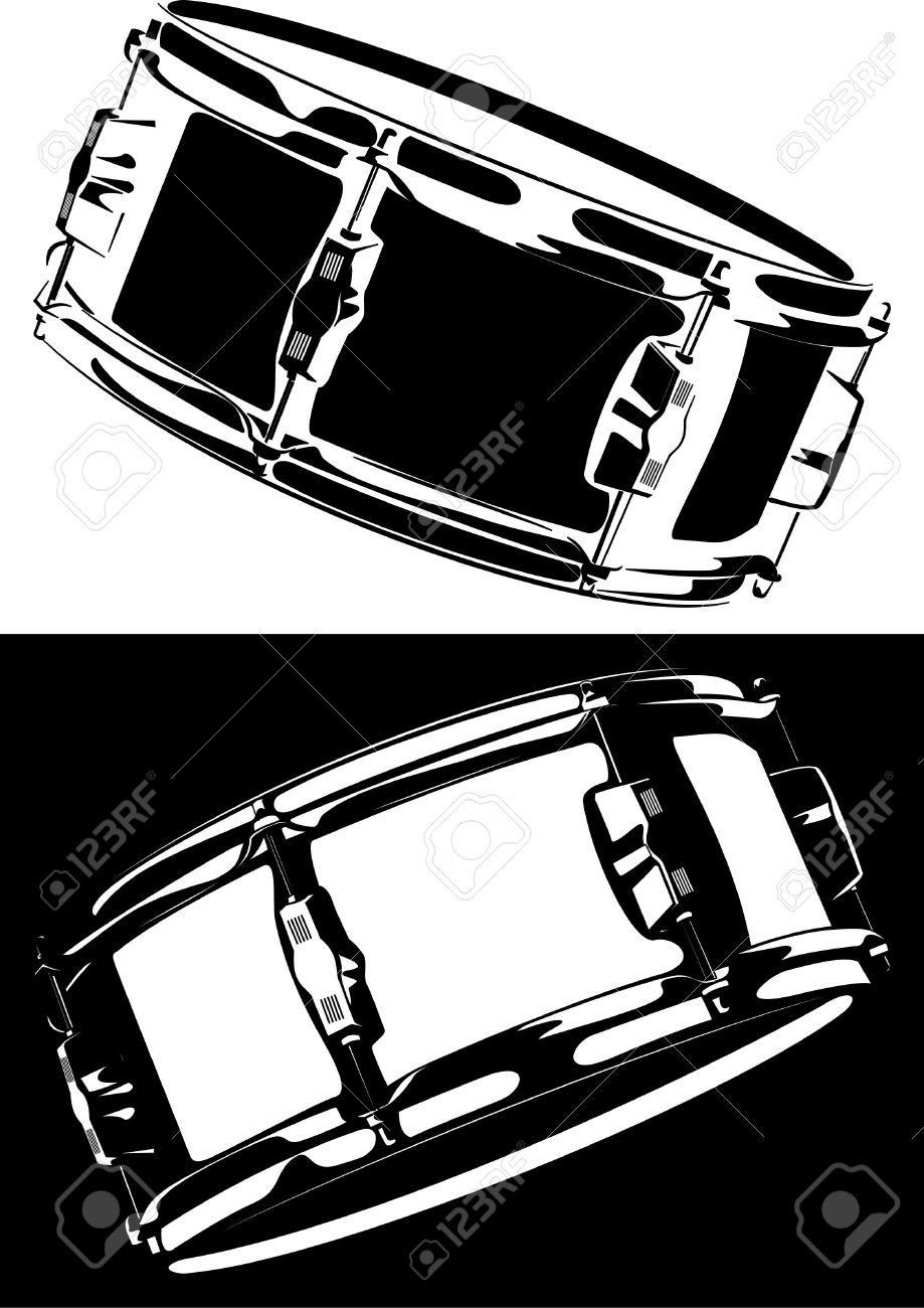 Snare Drum Black-white Version Stock Photo, Picture And Royalty ...