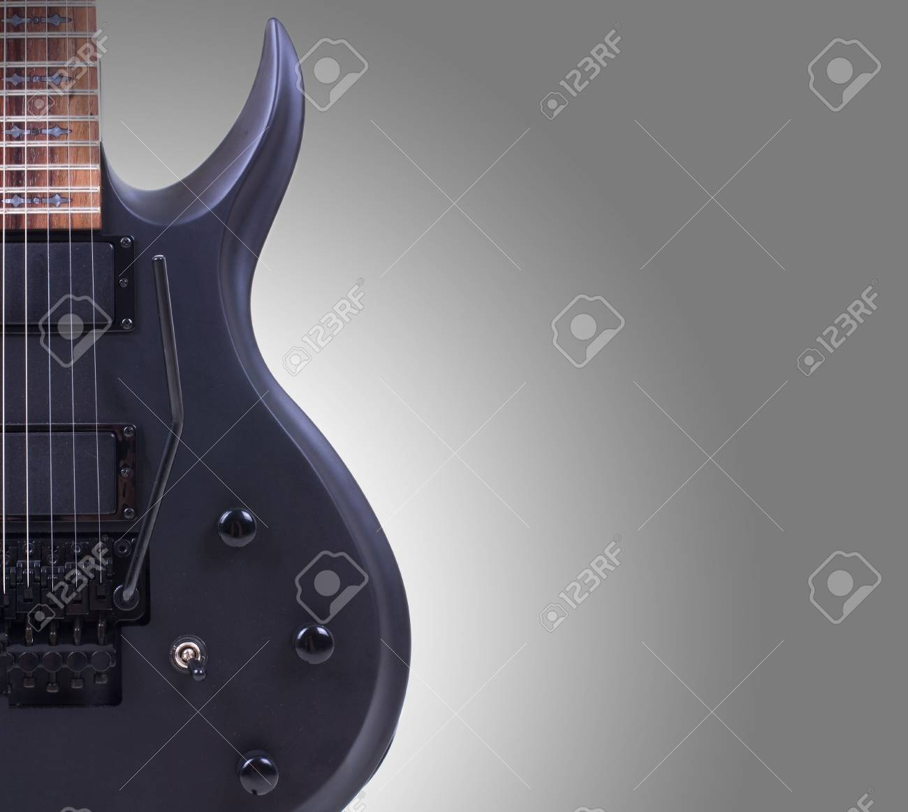 Series. electric guitar isolated on gradient background Stock Photo - 6871221