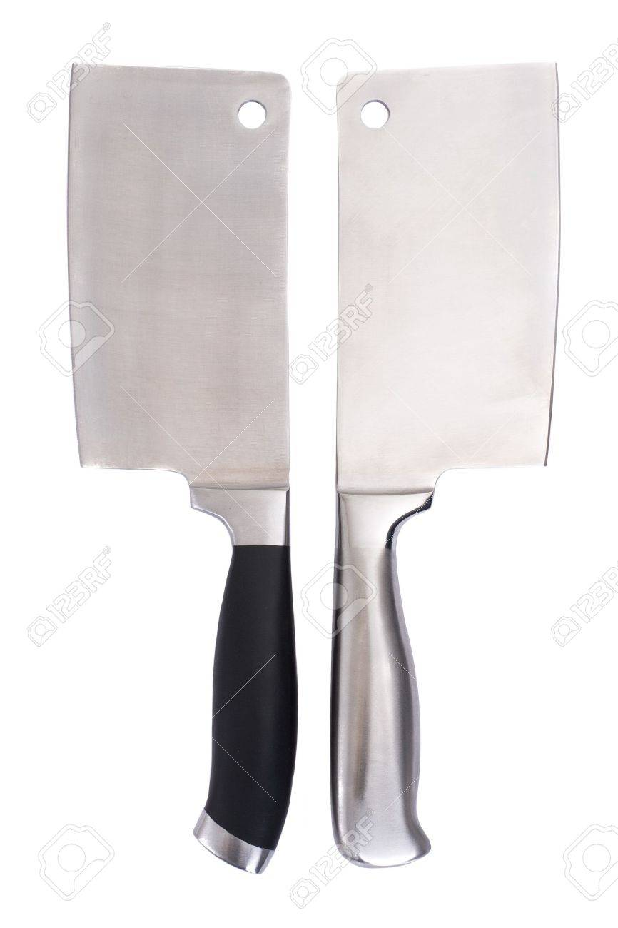 Series. meat cleaver isolated over white background Stock Photo - 6983374