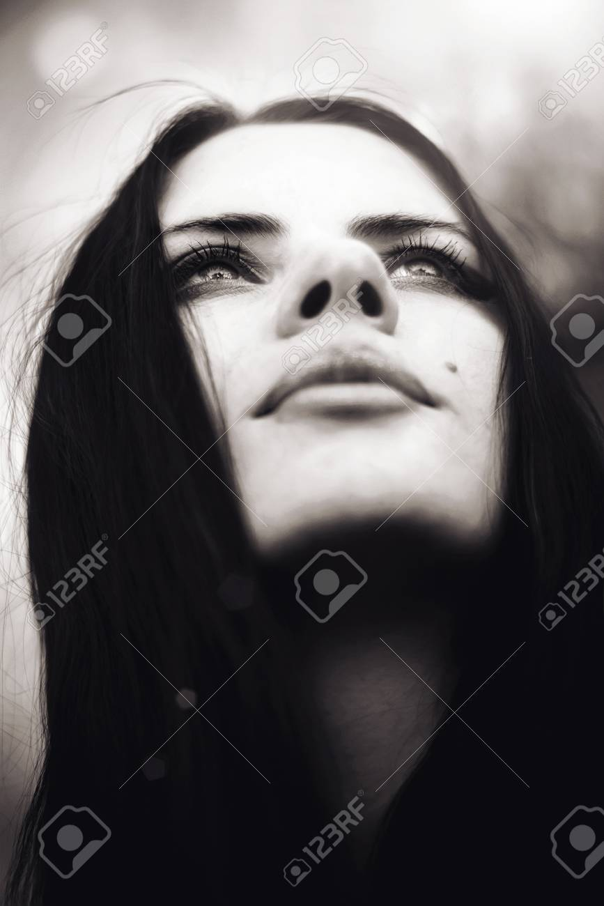 A series. A portrait of the young beautiful brunette Stock Photo - 7243156