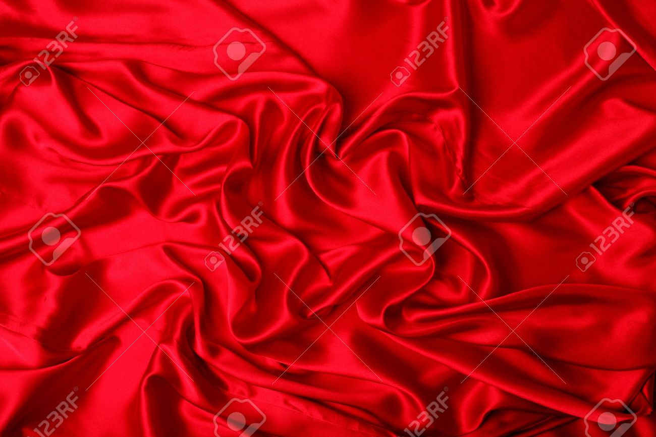 Series.Smooth elegant red silk can use as background Stock Photo - 7853800