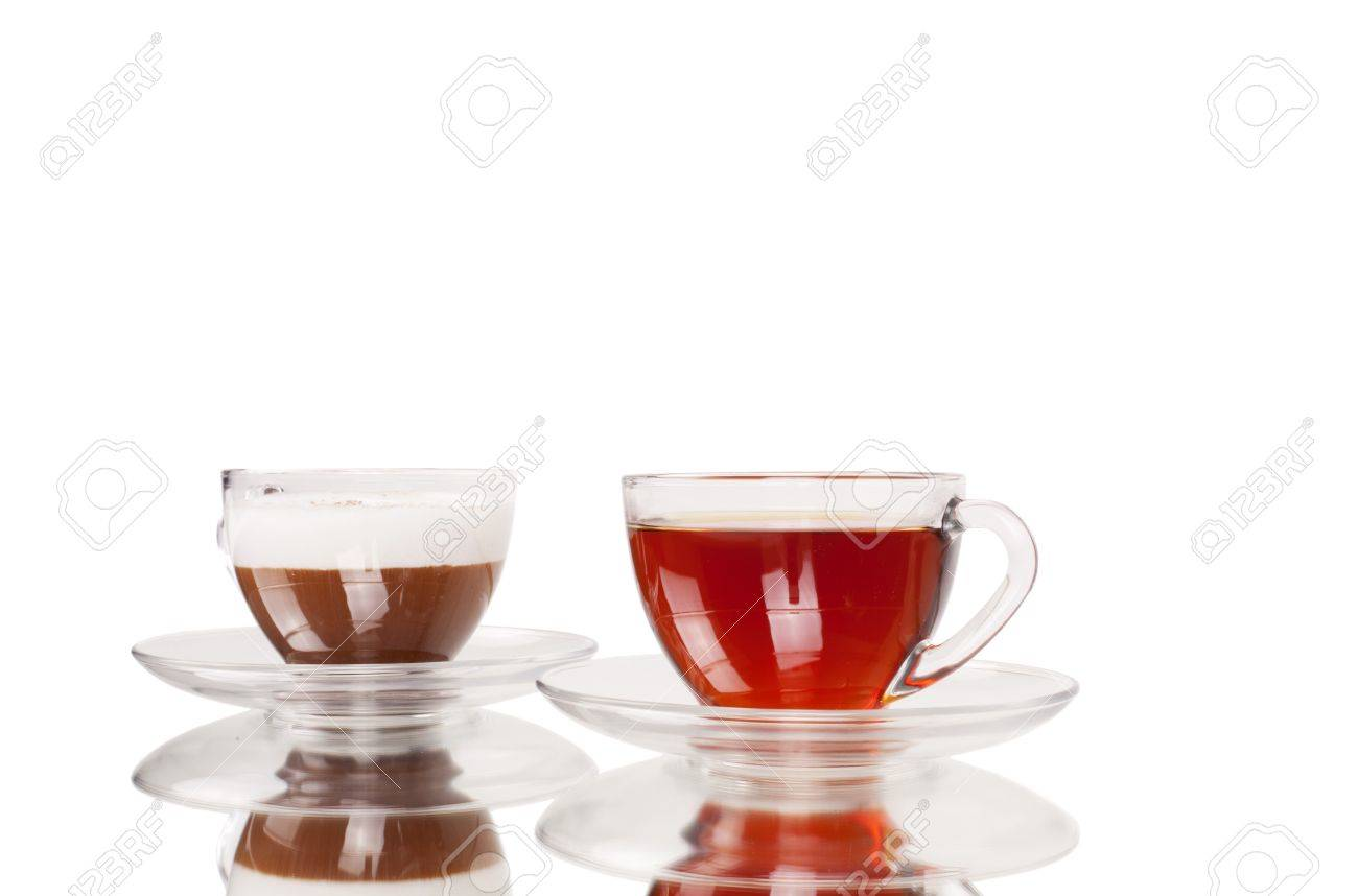 Series. coffee and tea cup isolated on white Stock Photo - 7853756