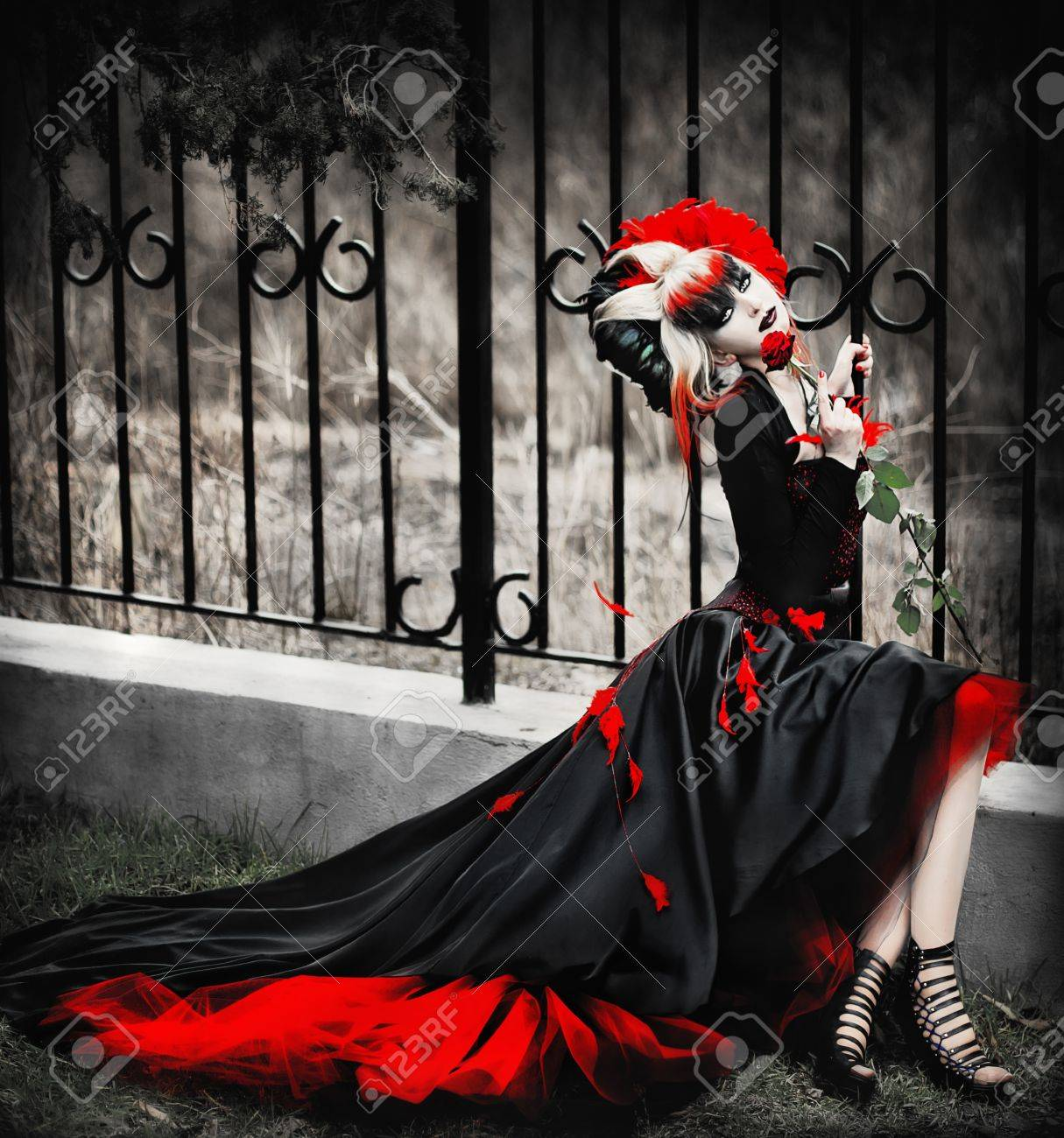 series. A portrait of the girl in Gothic style Stock Photo - 9322189