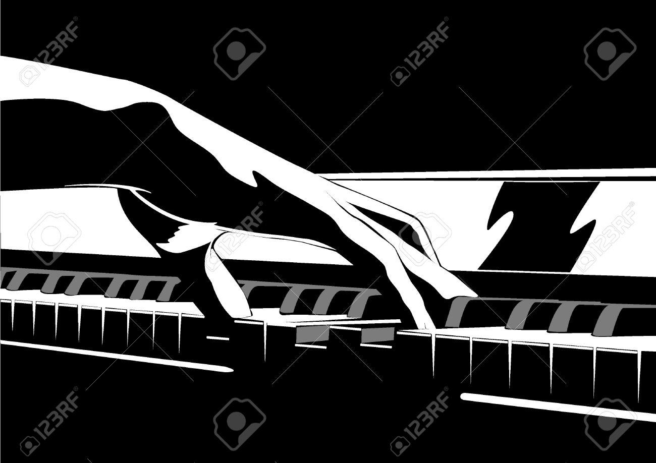Piano y manos Foto de archivo - 24551992