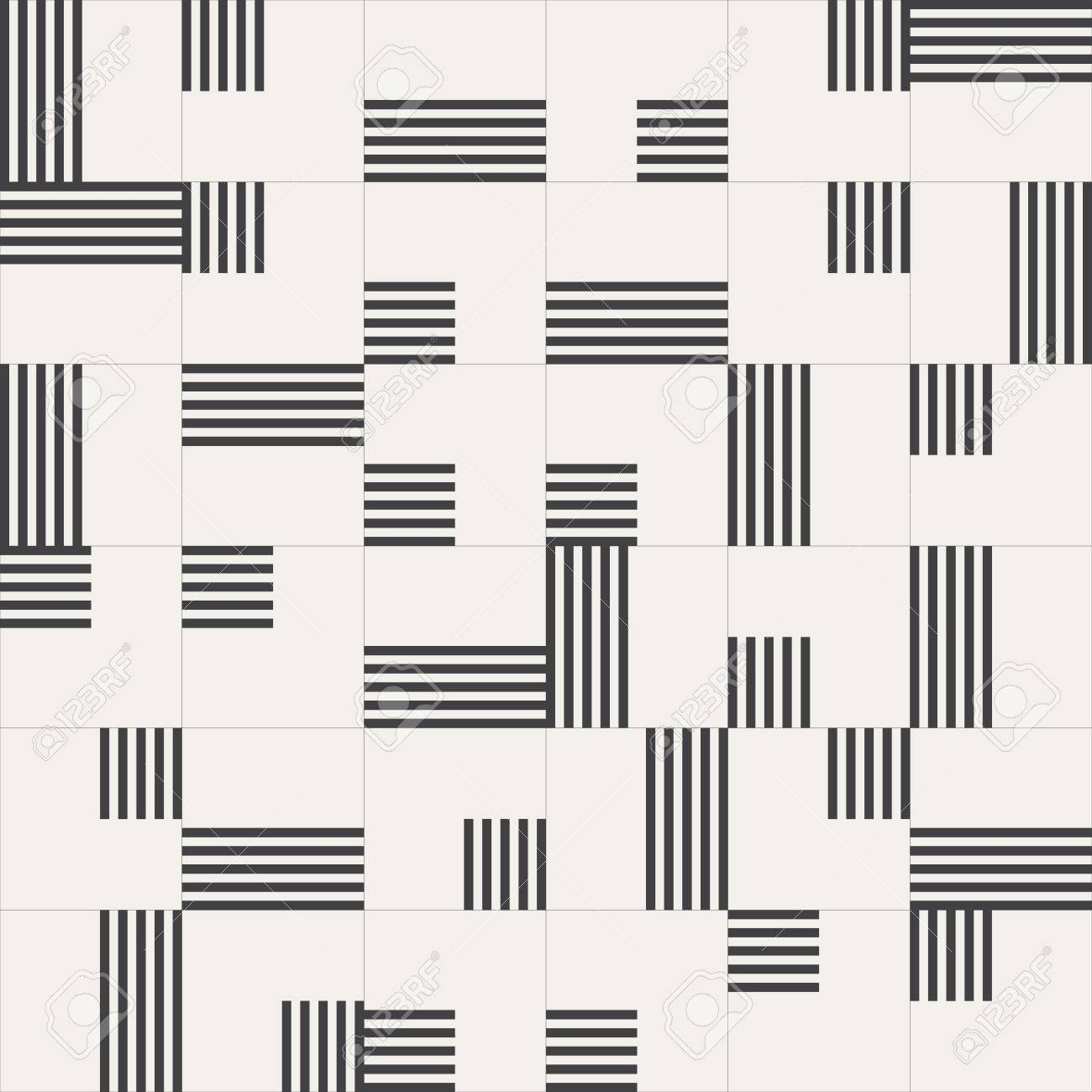 Vector seamless background. Modern stylish texture. Repeating geometric shapes. Contemporary graphic design. - 40707139
