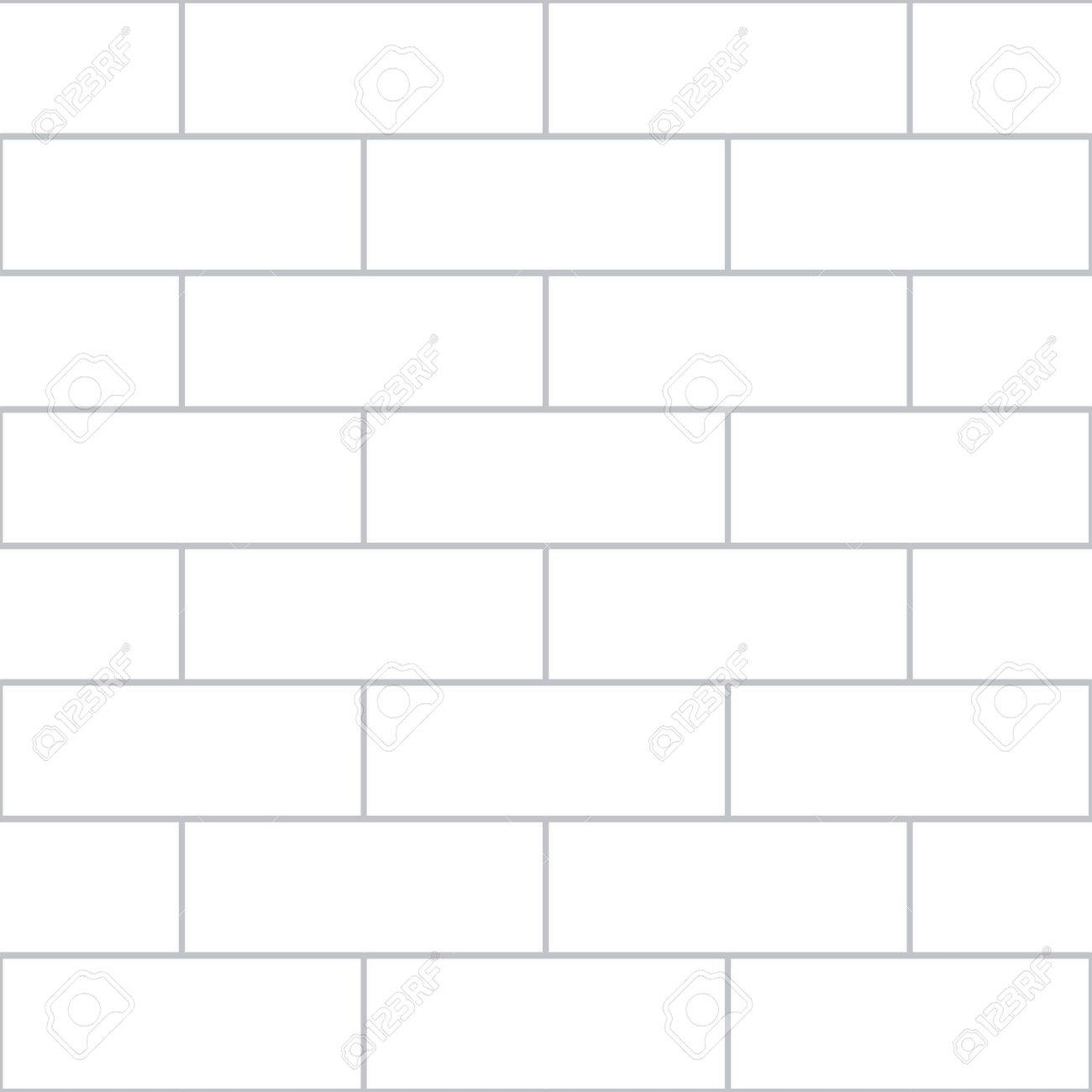 A vector illustration of a white brick wall. The wall covers the illustration from corner to corner, serving as both the background and the image. - 45725925
