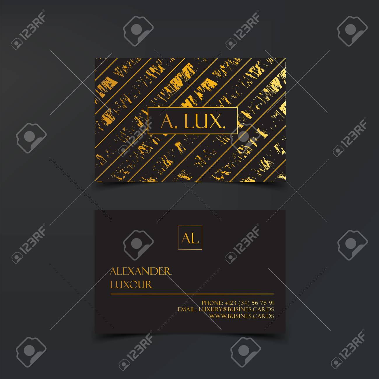 Fashion elegant black luxury business cards with marble texture fashion elegant black luxury business cards with marble texture and gold detail vector template banner reheart Gallery