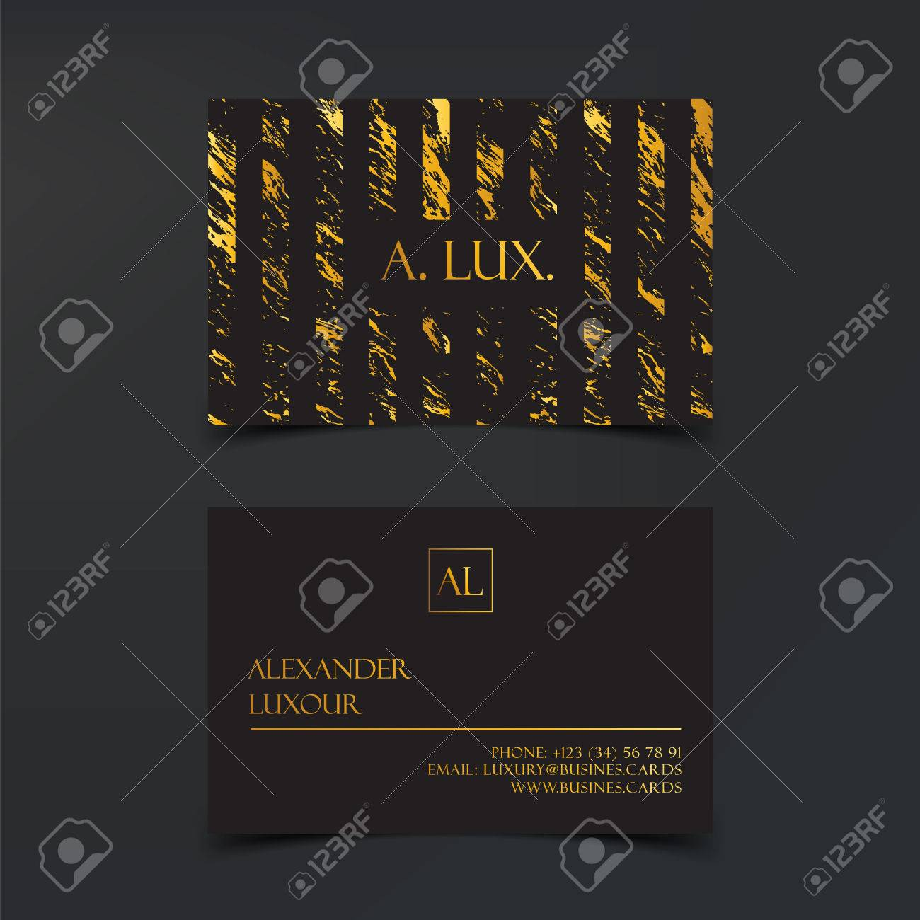 Fashion Elegant Black Luxury Business Cards With Marble Texture ...