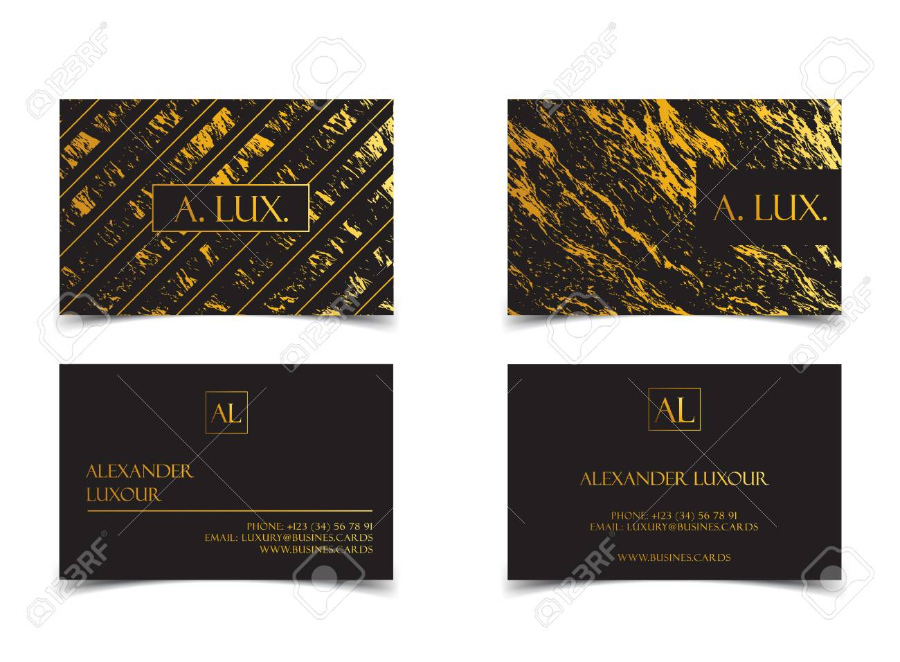 Elegant black luxury business cards with marble texture and gold elegant black luxury business cards with marble texture and gold detail vector template banner or reheart Image collections