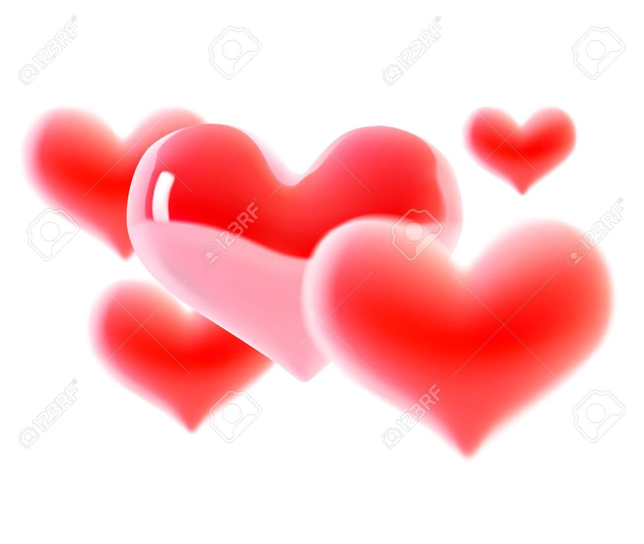 Herz 3d Lokalisiert Auf Weiss Valentinstag Herz Schone