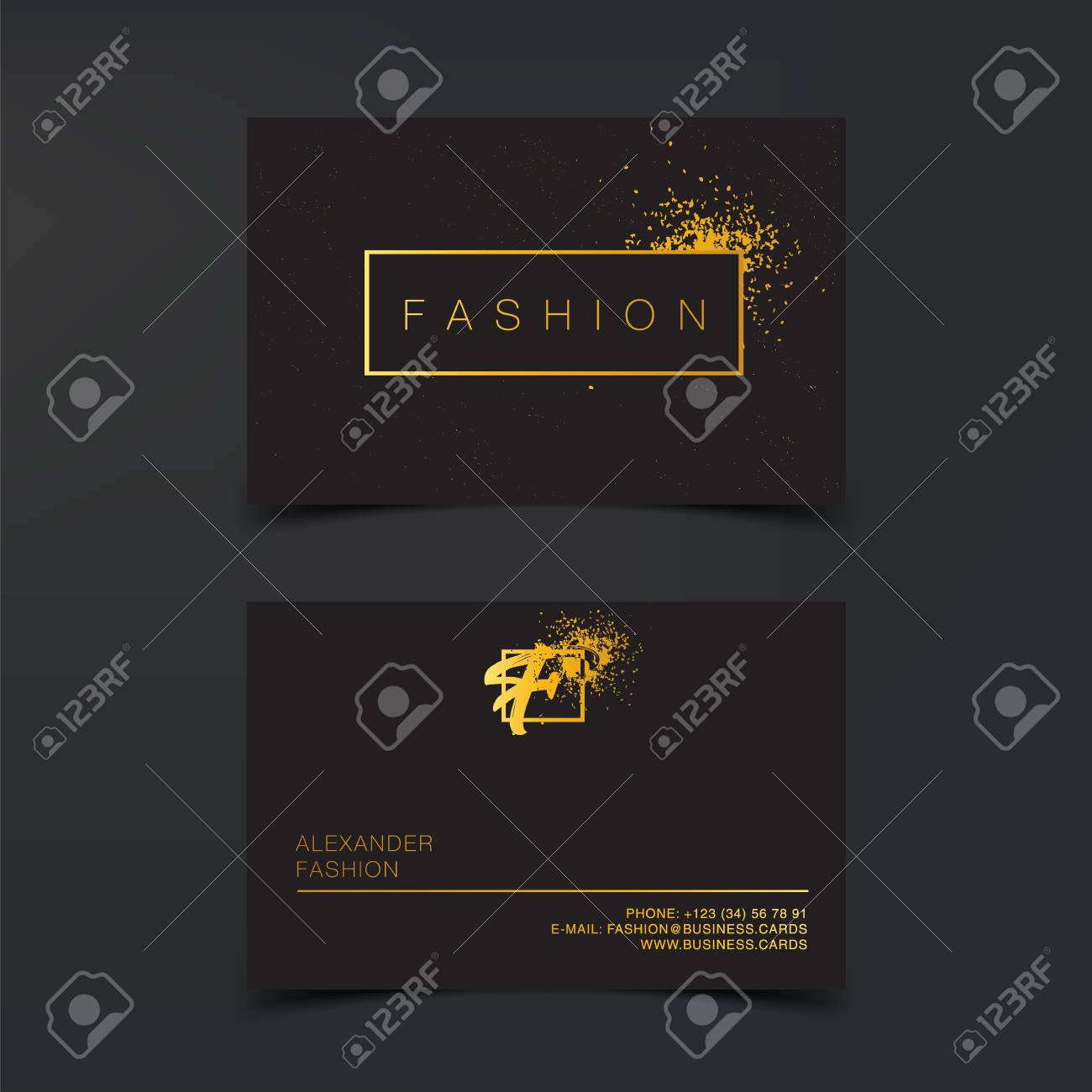 Luxury Fashion Business Cards Vector Template Banner And Cover Royalty Free Cliparts Vectors And Stock Illustration Image 94662385