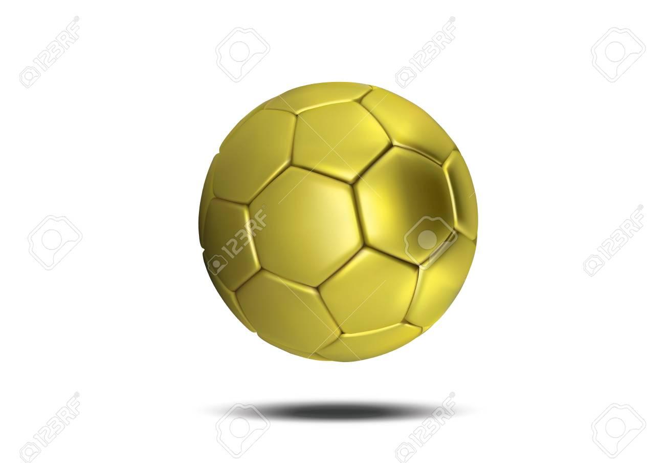 0ea7cbd7b Gold soccer ball isolated on white background. Golden football ball. Soccer  3d ball Stock