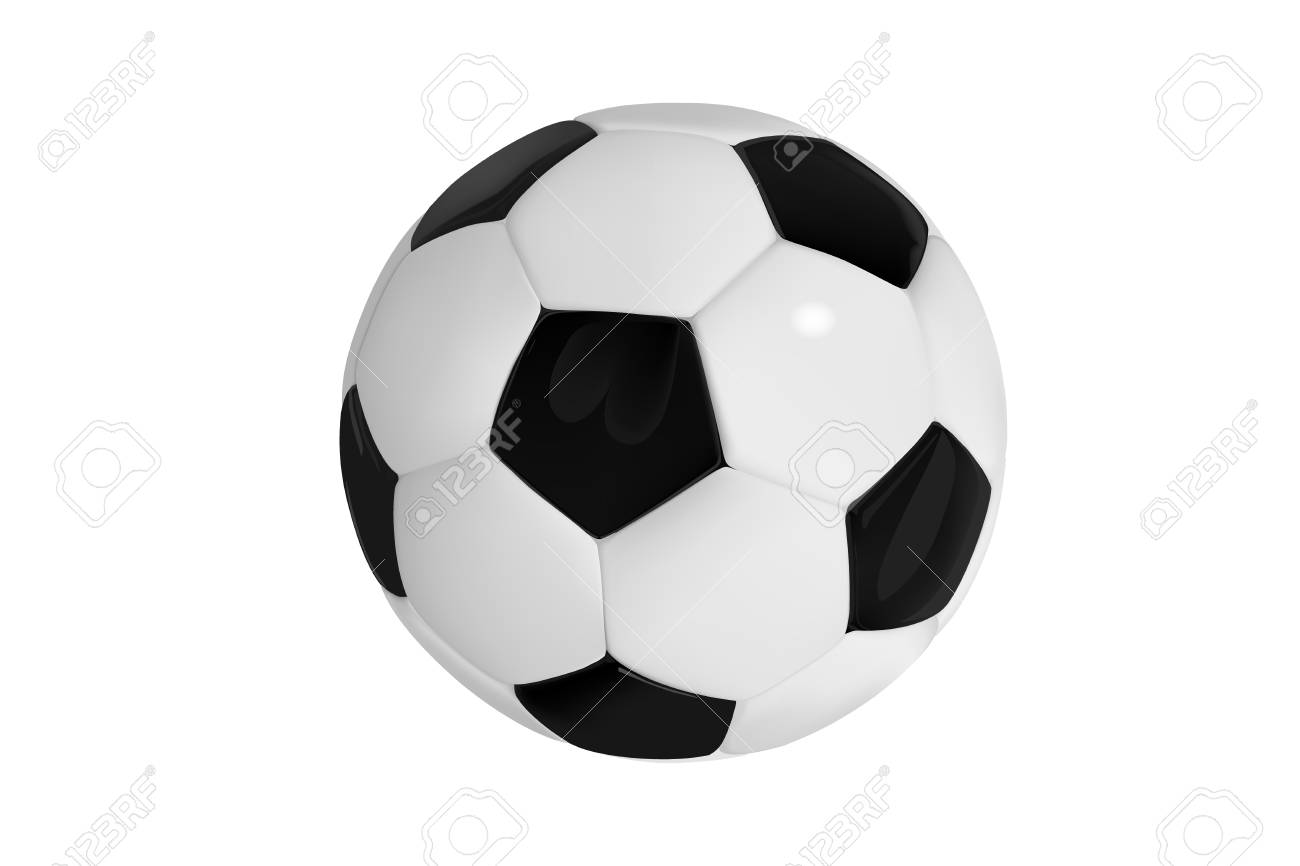 football bal. Realistic soccer ball on white background. 3d Style vector sport ball isolated on white background - 111660133